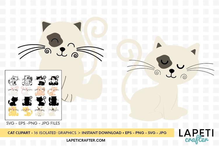 Cat clipart, kitten cats clipart, kitty clip art digital example image 8