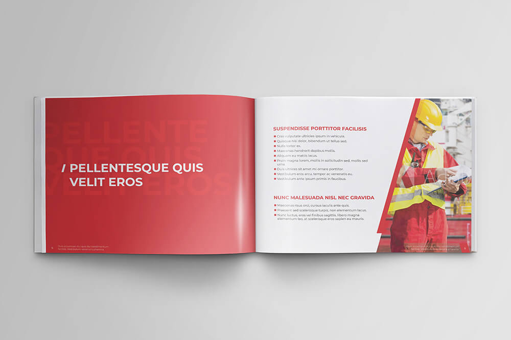 Offshore Oil and Gas Booklet Design Template example image 5
