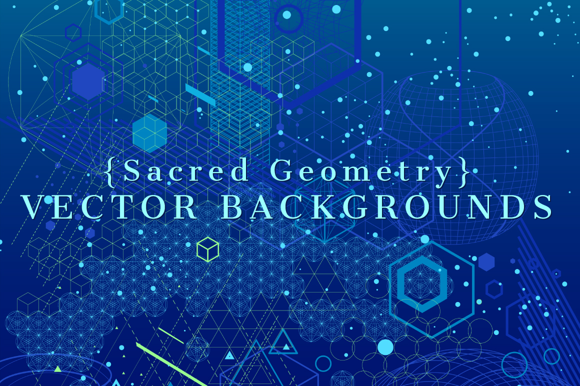 {Sacred Geometry} Vector Backgrounds example image 1