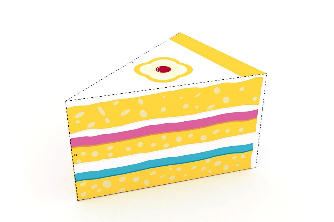 DIY Cake favor - 3d papercraft example image 3