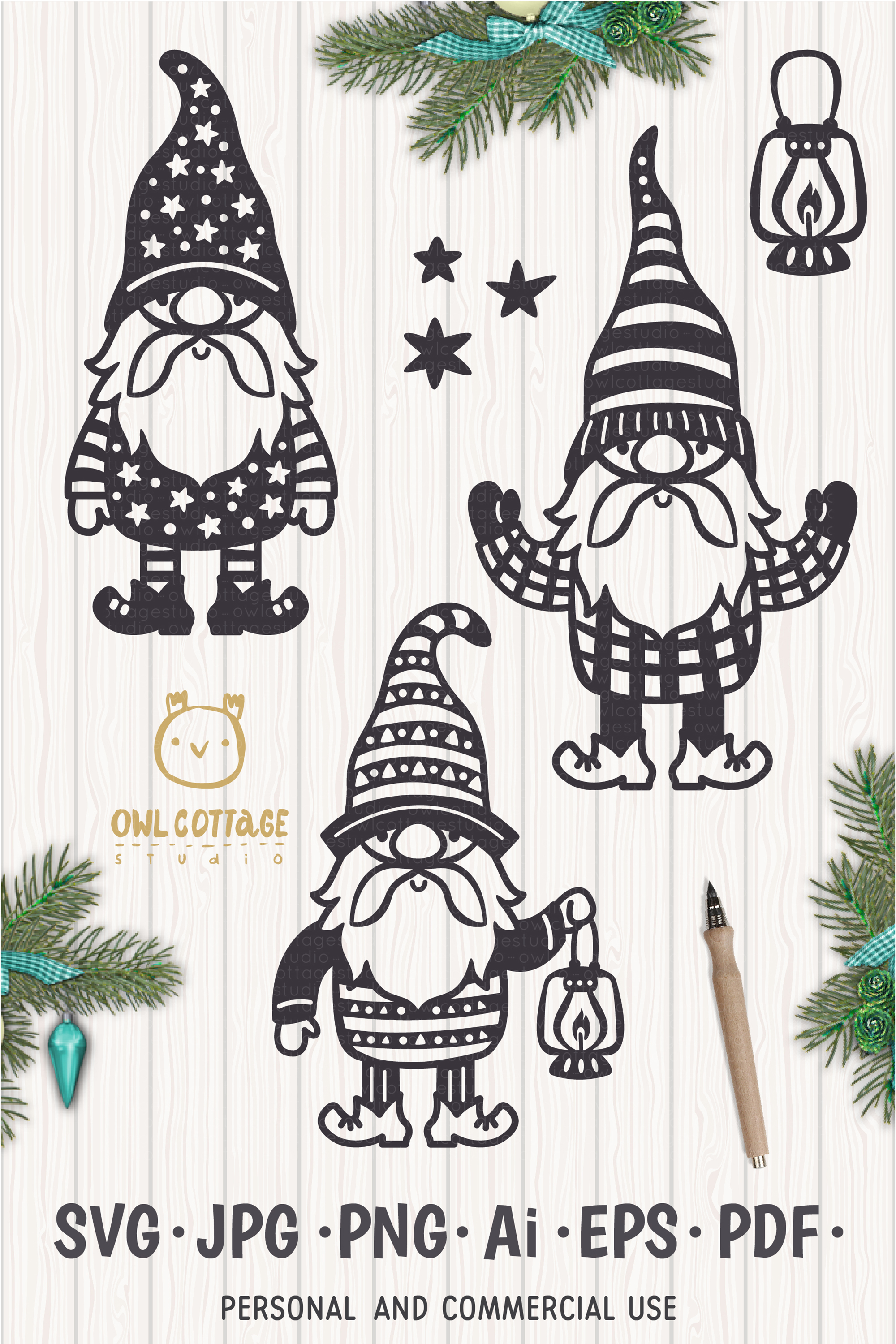 Scandinavian Gnomes SVG, Gnome Clipart, Tomte example image 13