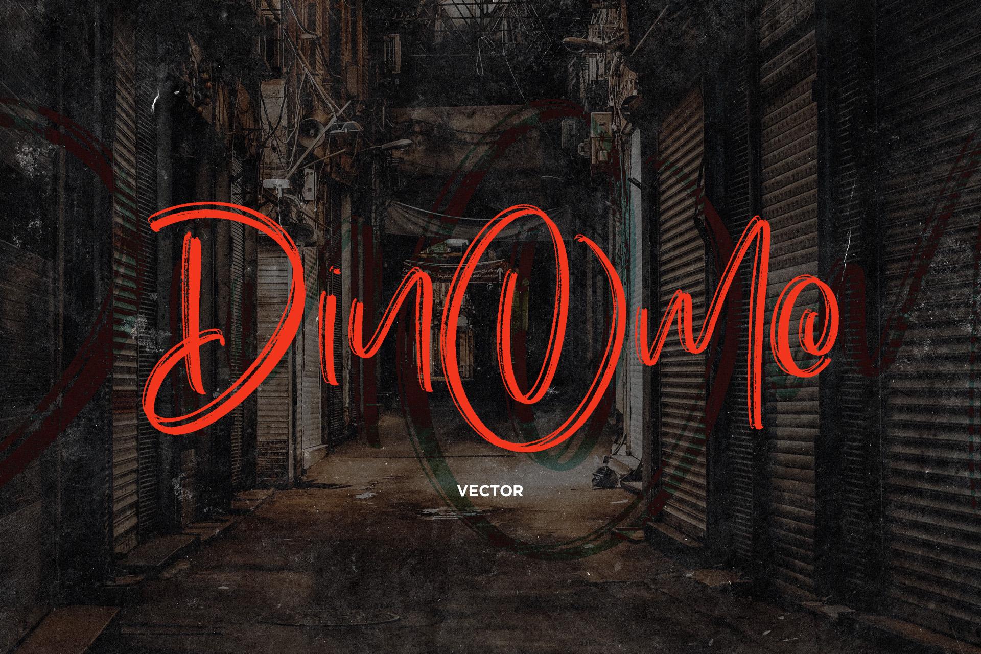 Dinomo SVG Brush Font example image 2