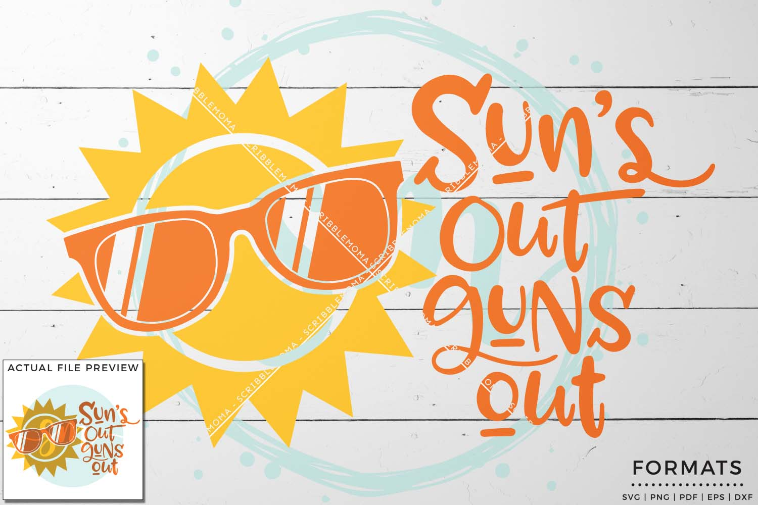 Sun's Out Guns Out Boy's SVG example image 1