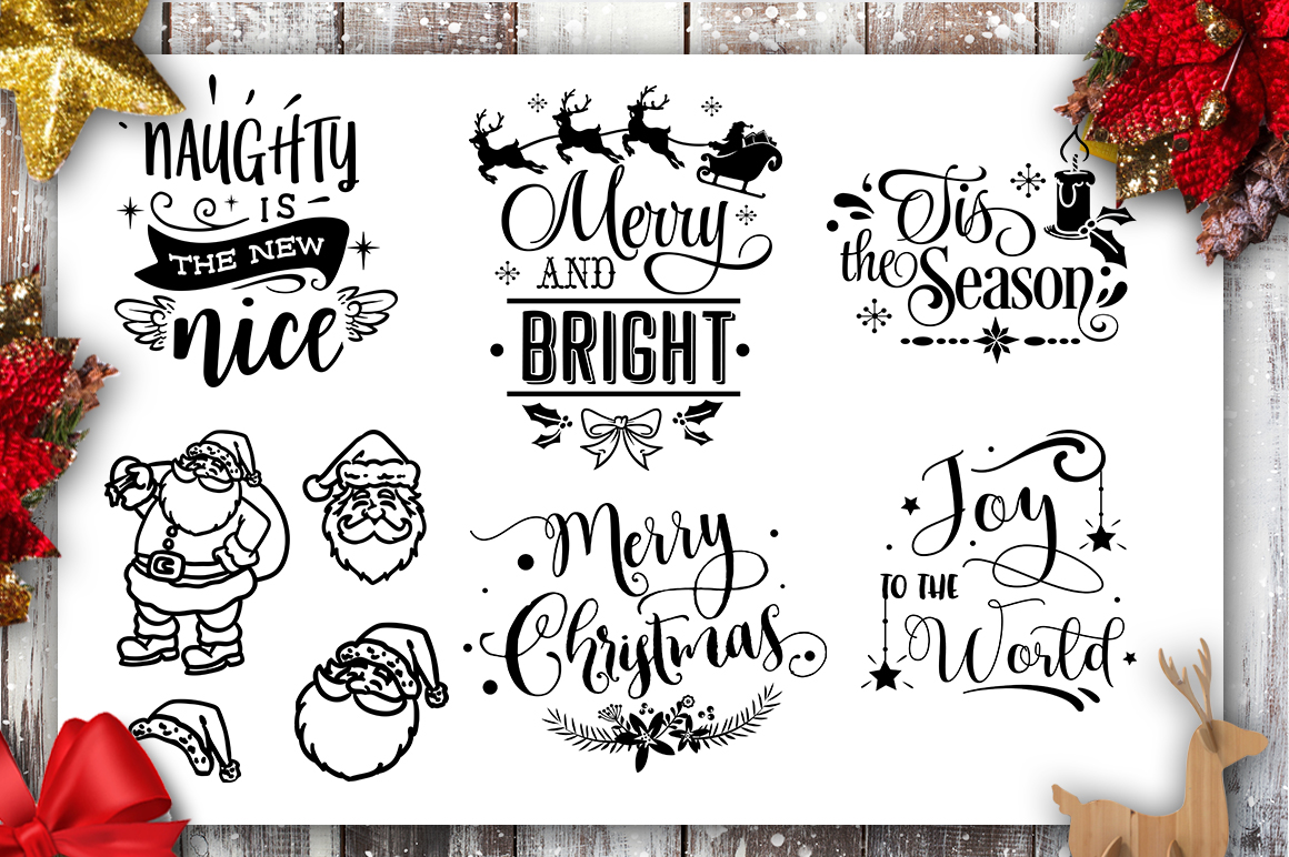 Christmas Bundle SVG bundle 40 designs Winter SVG example image 8