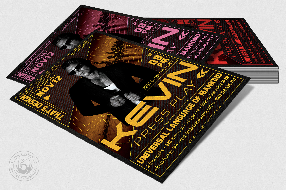 DJ Guest Flyer Template V3 example image 4