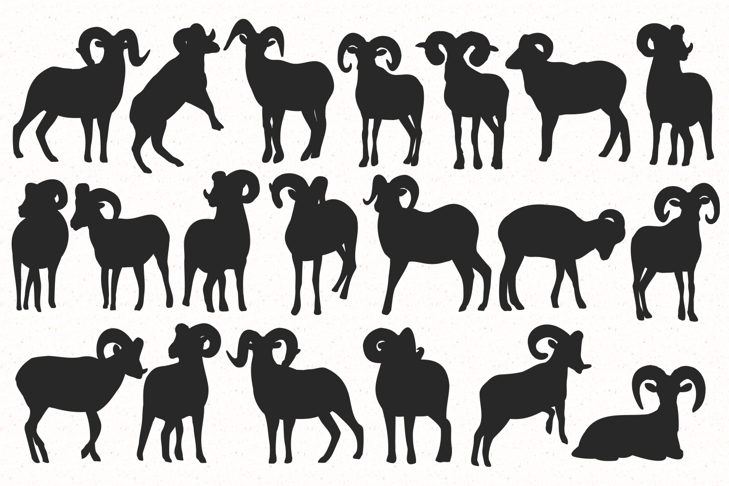 Bighorn sheep silhouettes example image 2