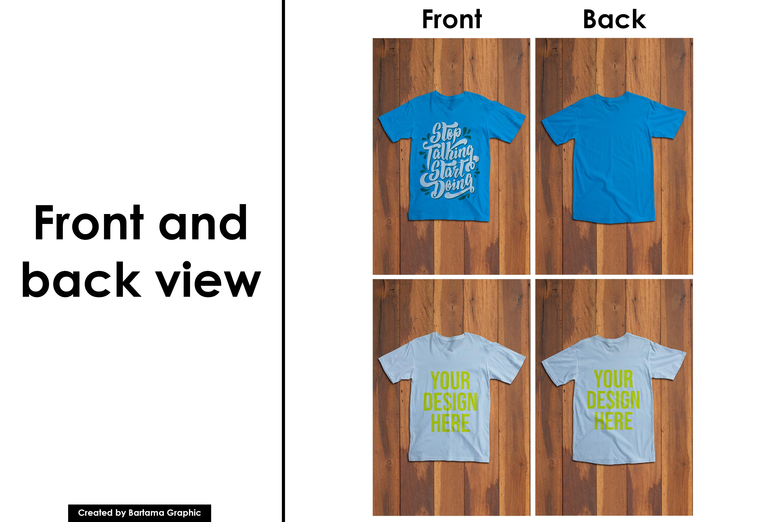 V Neck T-shirt Mockup example image 2