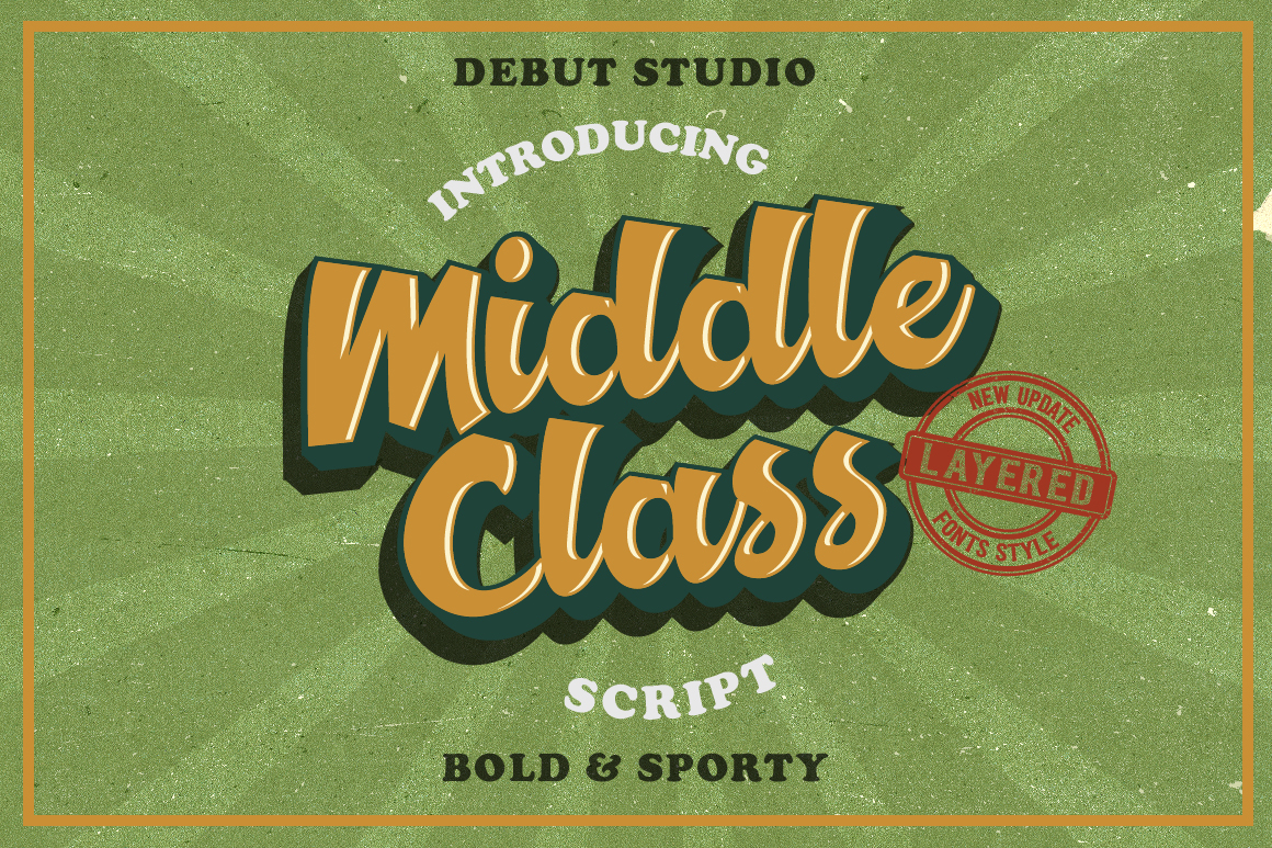 Middle Class Script  Extra example image 1