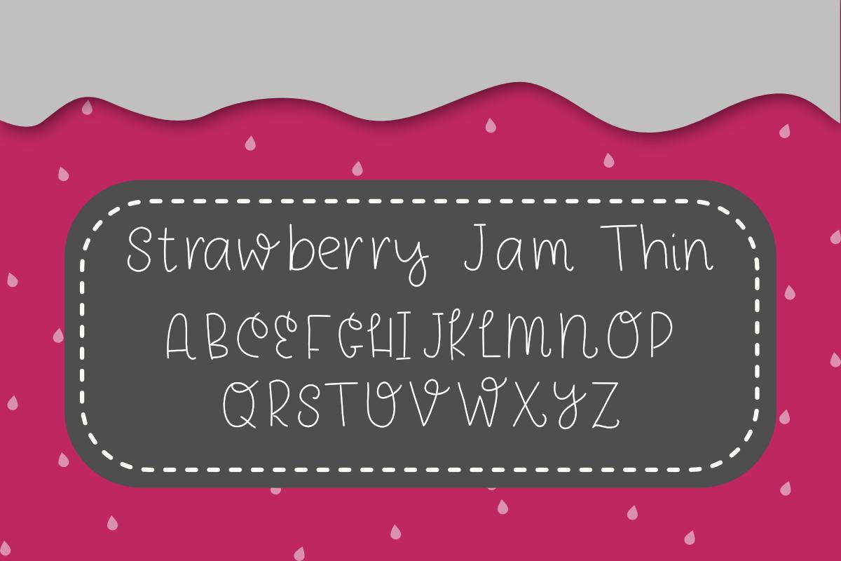 Strawberry Jam Font example image 5