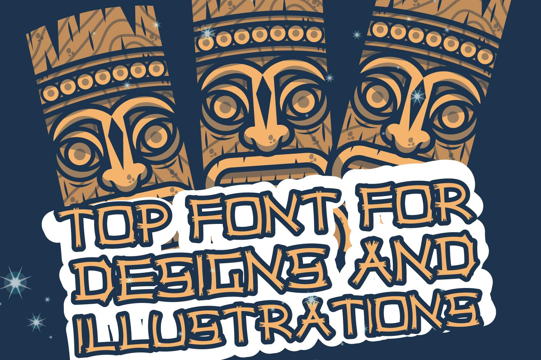 Hawaiian Tiki Island Font example image 3