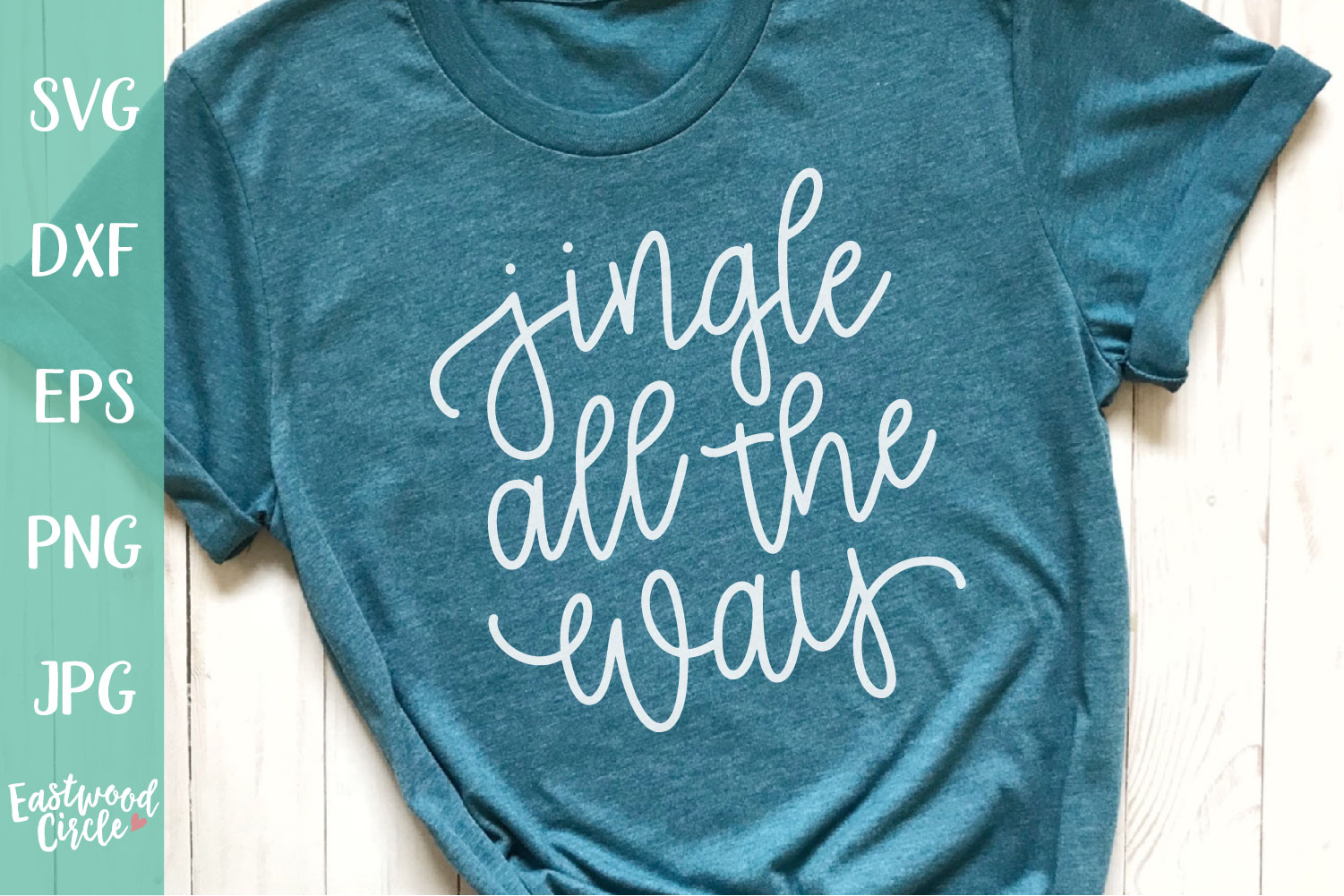 Jingle All the Way - Hand Lettered Christmas SVG File example image 1