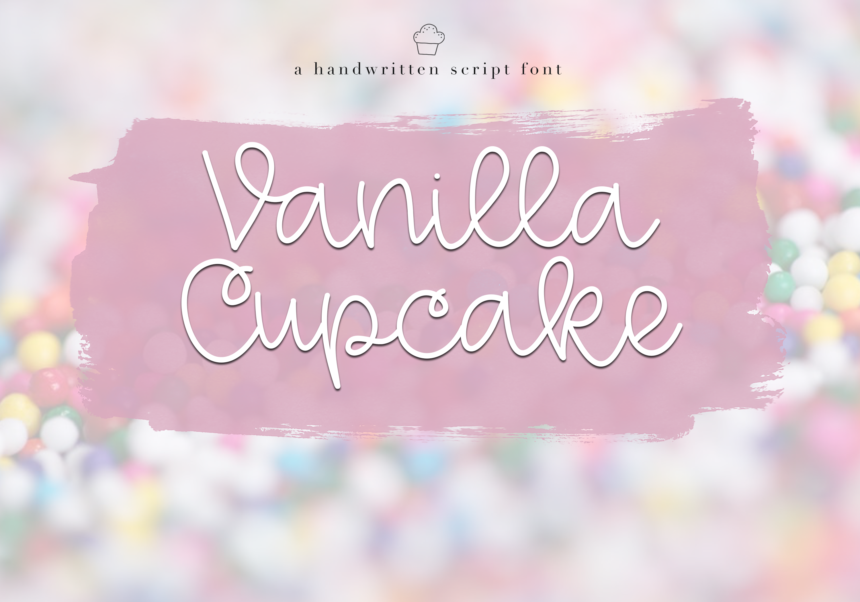 Vanilla Cupcake - A Handwritten Script Font example image 1