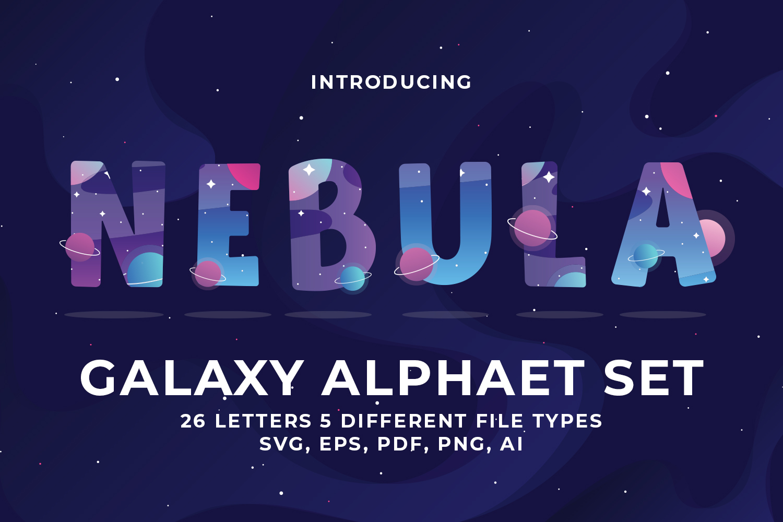 Galaxy Alphabet set example image 1