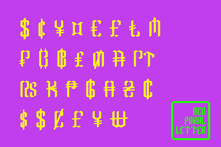 Neo Paralletter Font example image 10