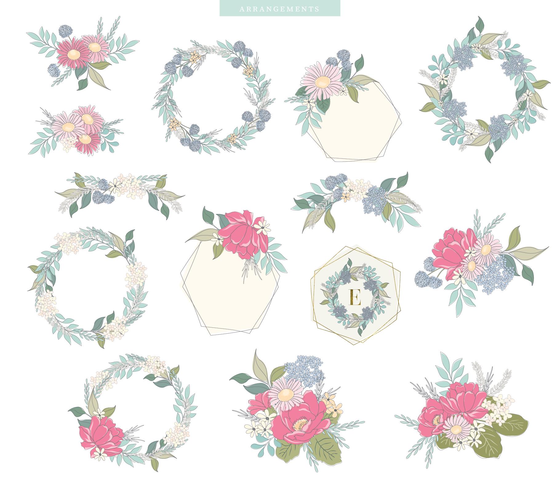 Floral Pattern Design Set example image 17