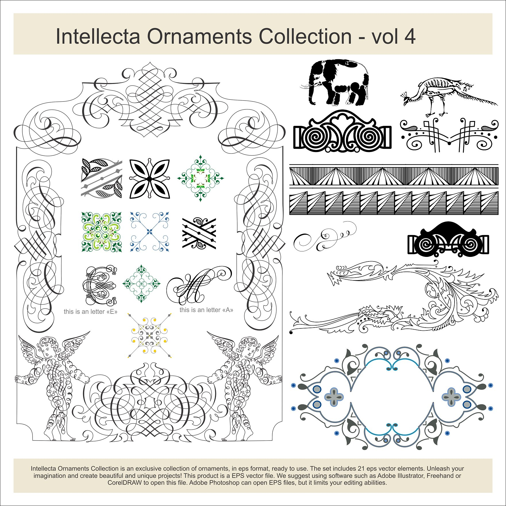Intellecta Ornaments Collection 4 example image 1