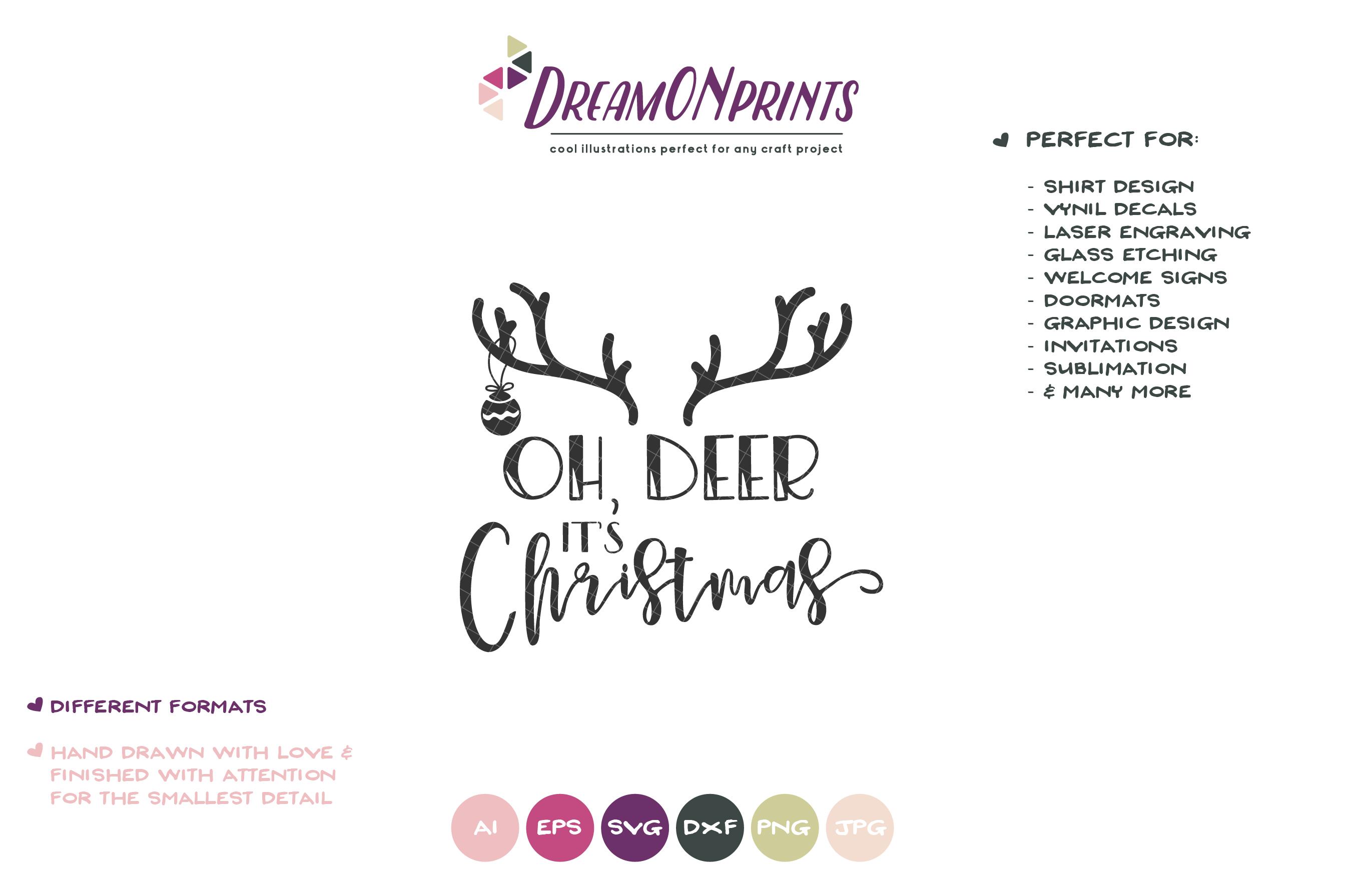 Oh, Deer It's Christmas | Fun Christmas SVG example image 2