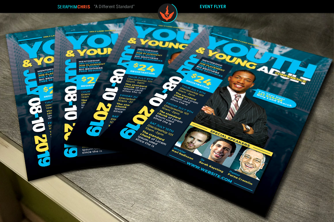 Youth & Young Adult Conference Flyer Template example image 3