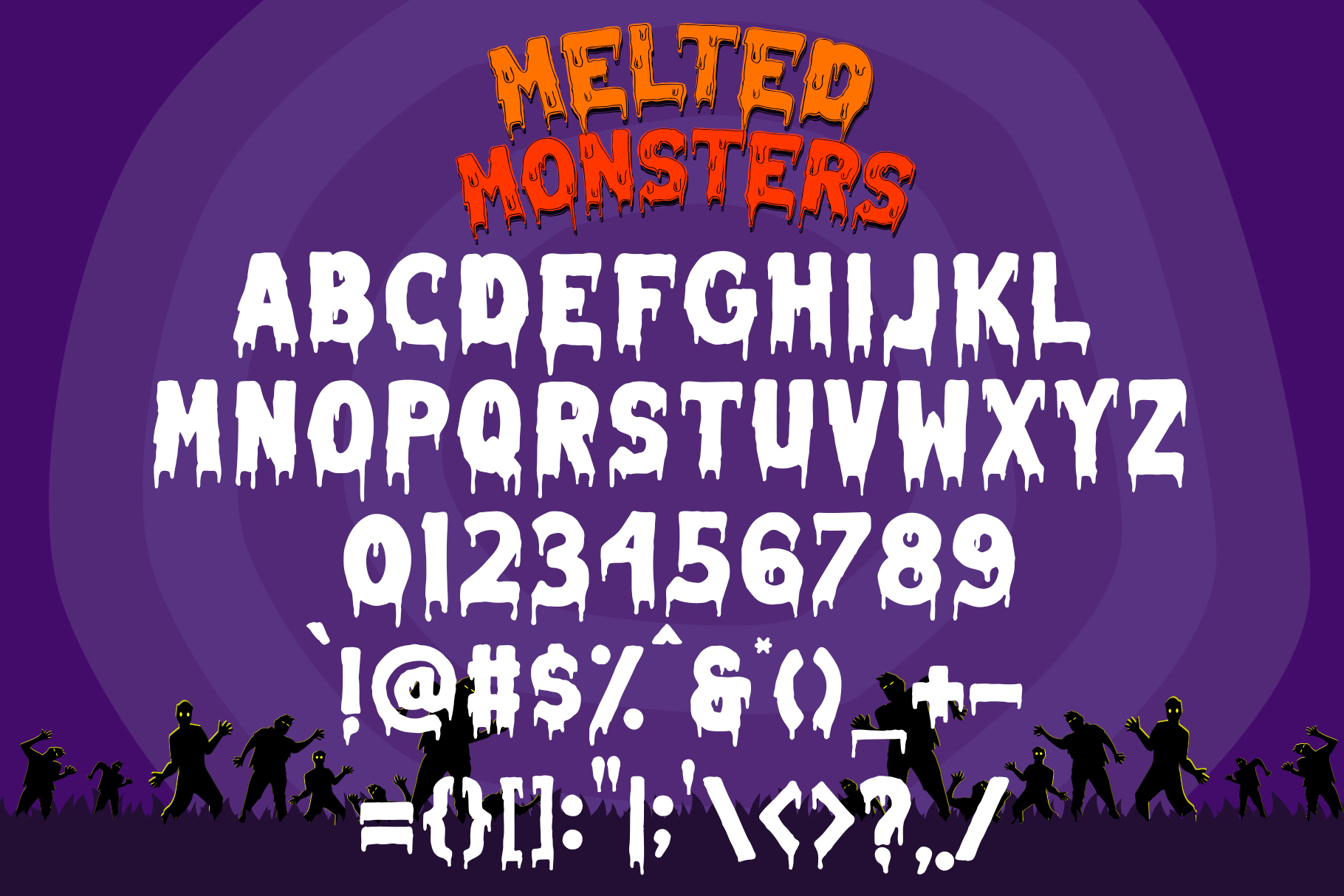 Melted Monster - Halloween Pack Layered Font example image 7