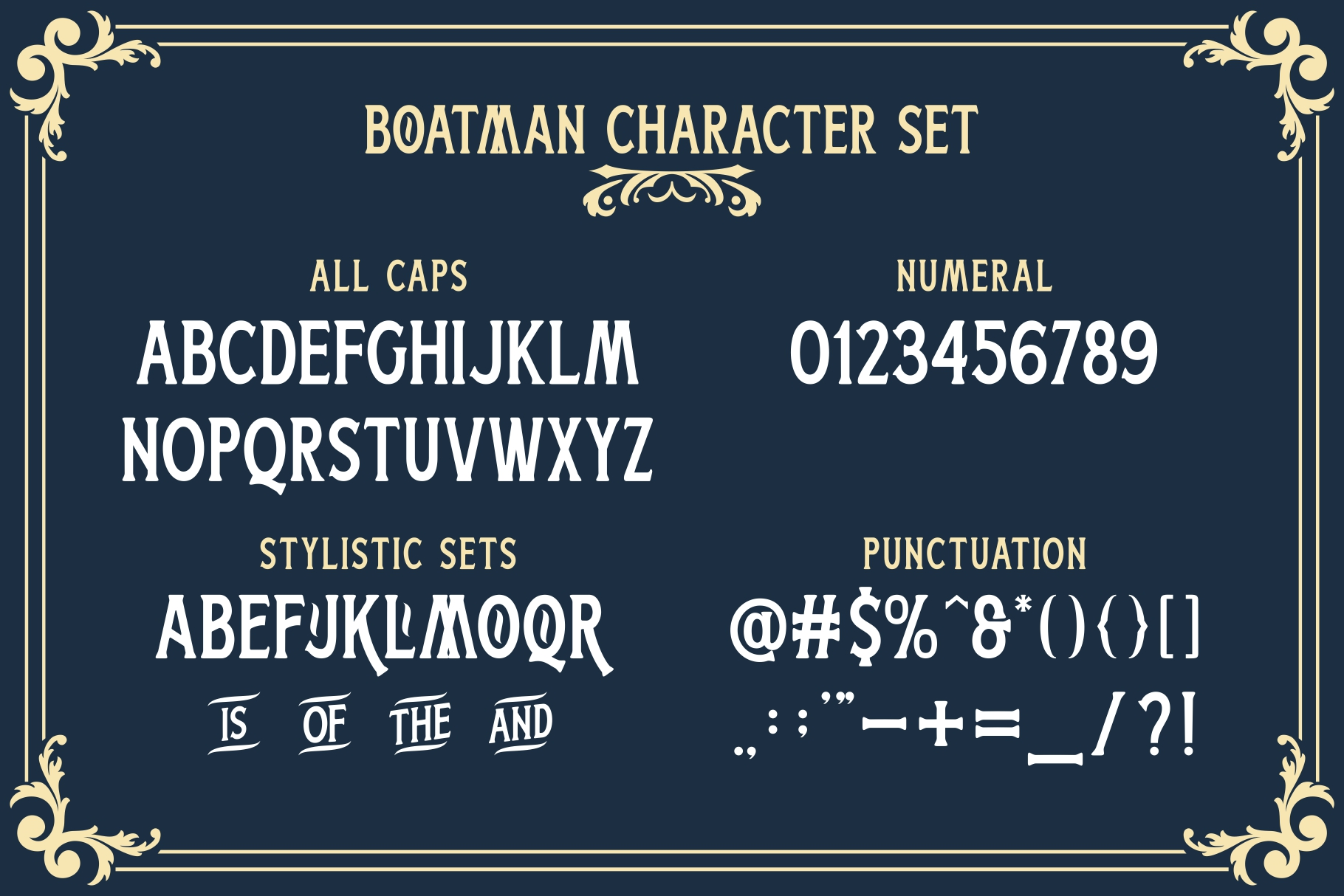 Boatman Font 3 Styles Extras example image 10