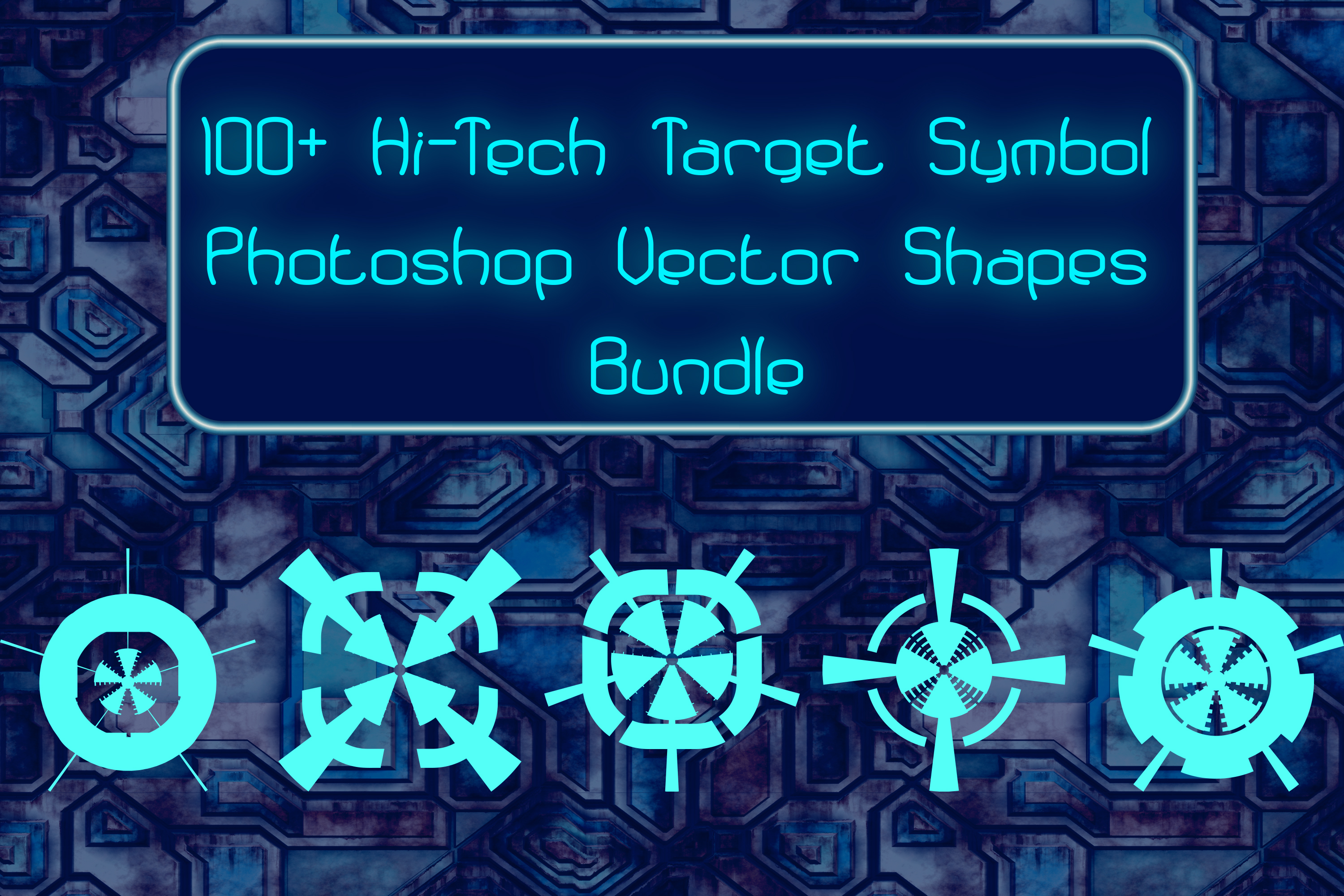 100 Hi-Tech Target and Danger Symbols Vector Photoshop example image 1