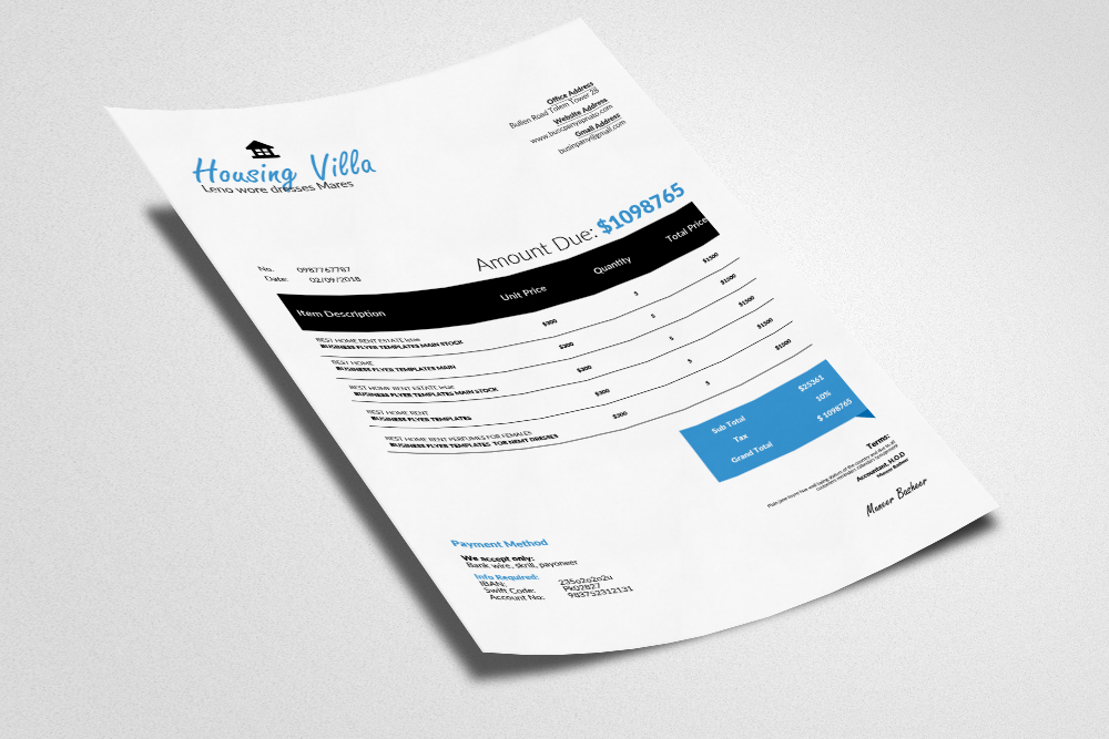 4 Format Invoice Template example image 3