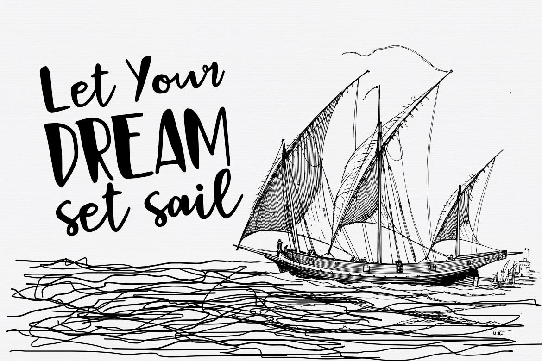 Black Sail Brush Font example image 4