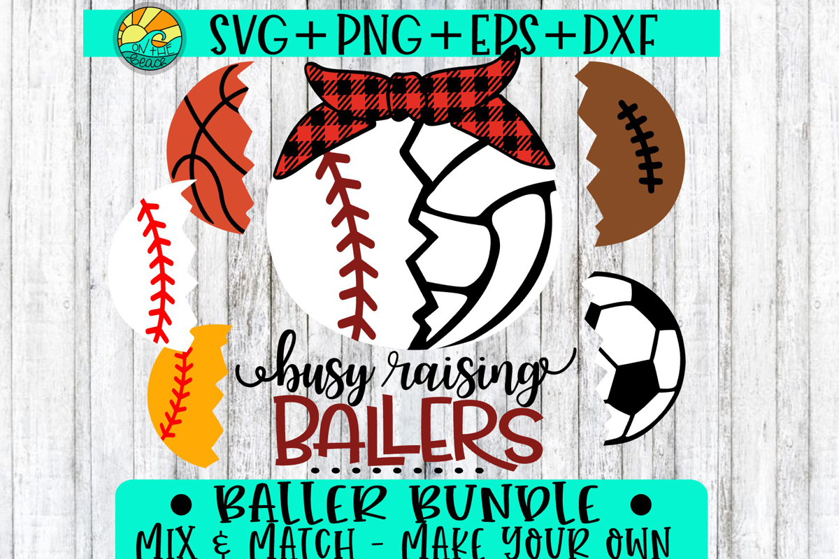 Raising Ballers Bundle - SVG PNG DXF EP example image 1