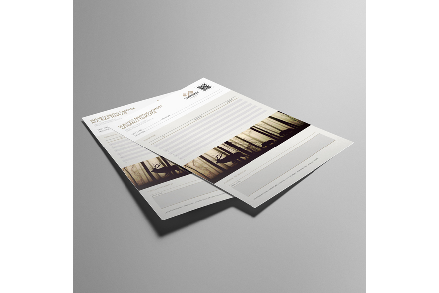 Business Meeting Agenda A4 Format Template example image 3