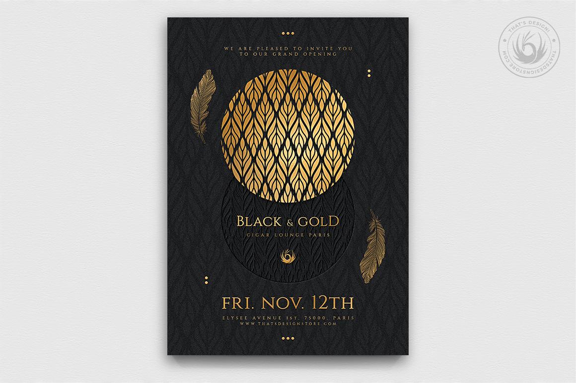 10 Black and Gold Flyers Bundle V2 example image 4