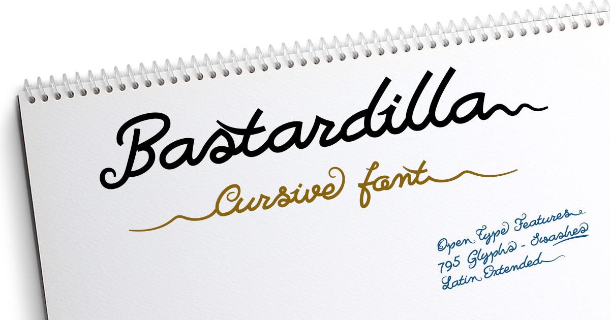 Bastardilla example image 3
