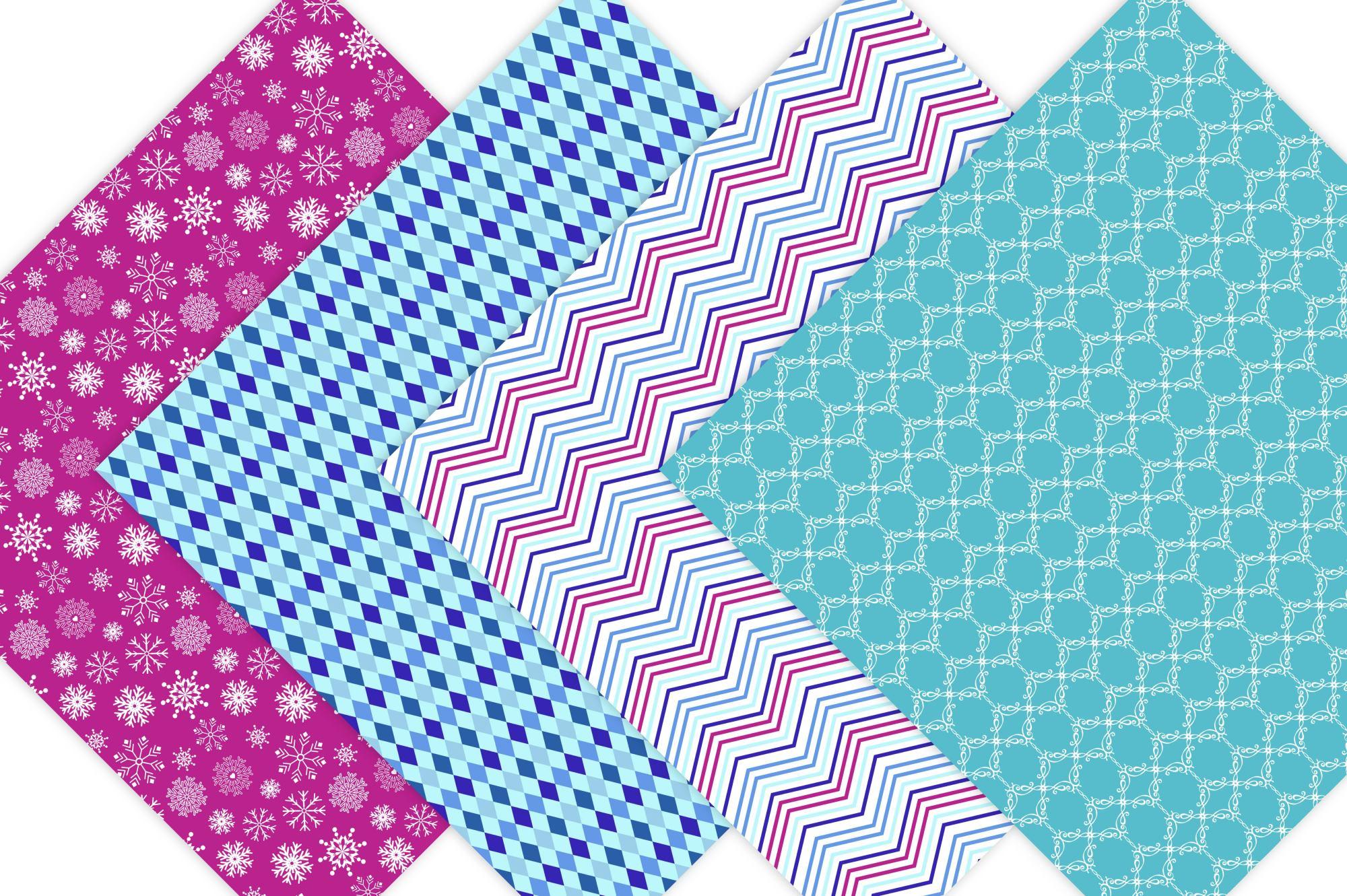 Frozen Digital Paper - Pattern Design example image 3