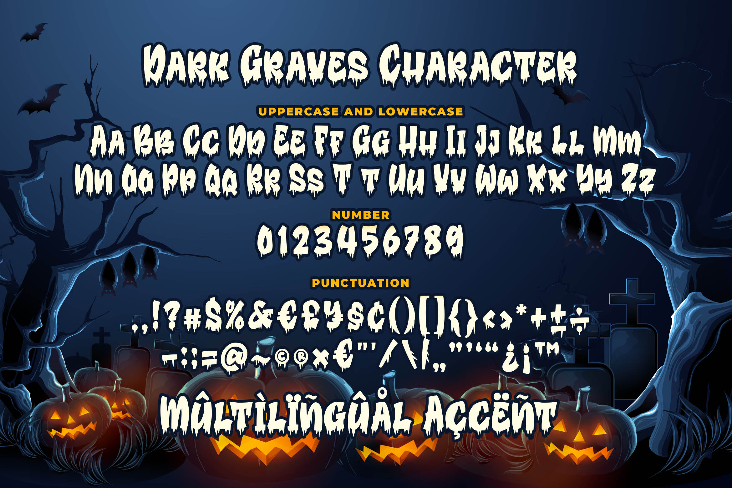 Dark Graves- a Horror Font example image 7