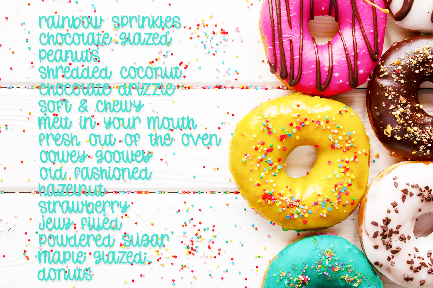 Donut Worry - Hand lettered crafting font example image 5