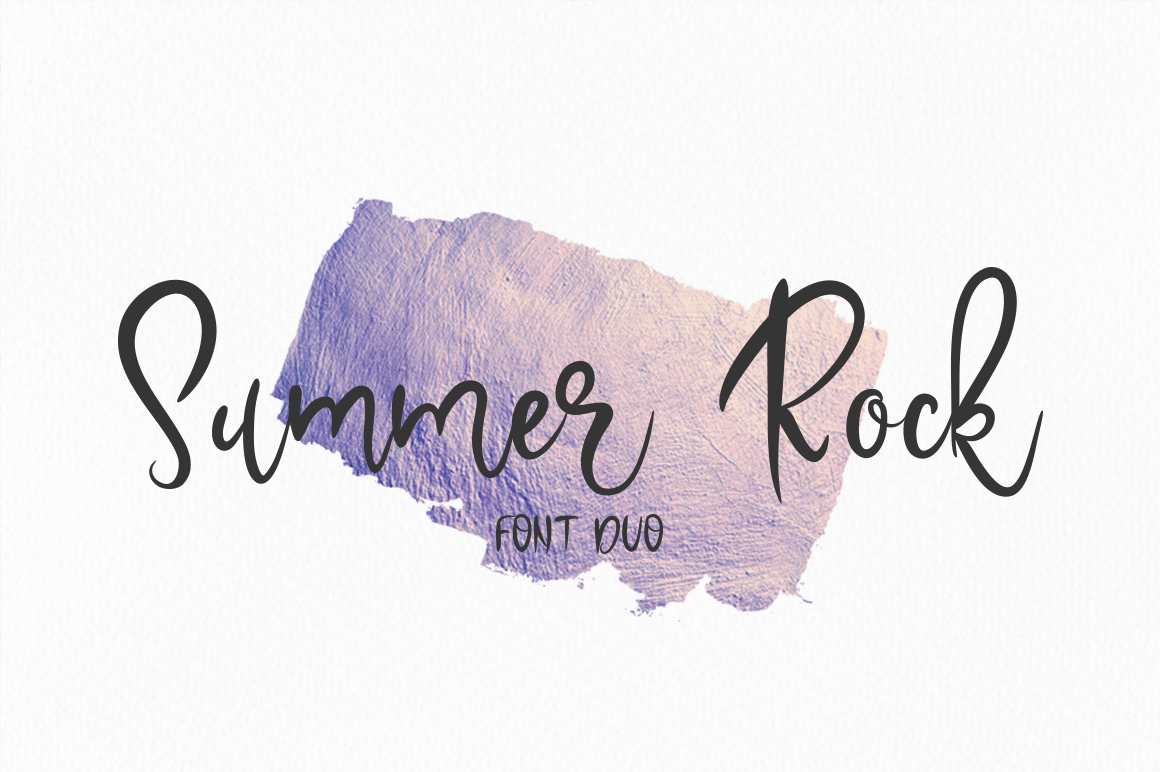 Summer Rock. Font duo example image 1