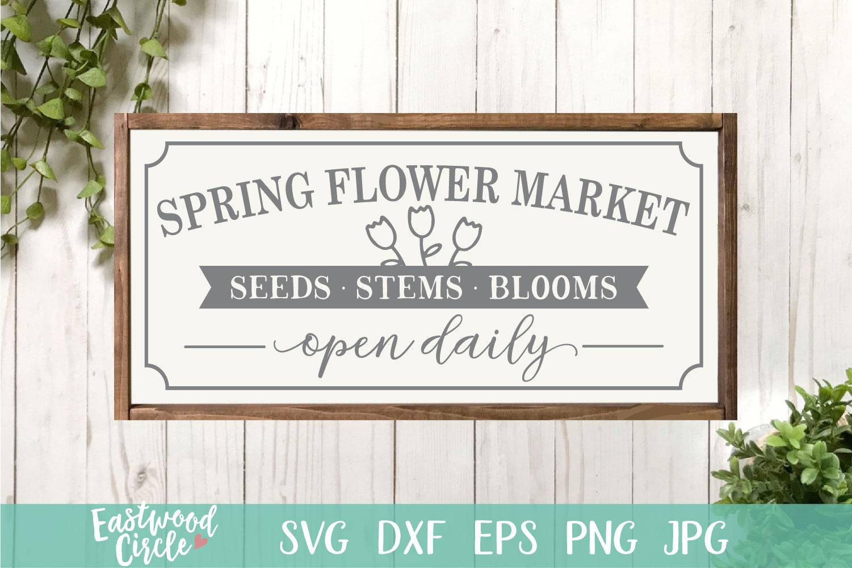 Spring Flower Market - A Spring SVG Cut File example image 1