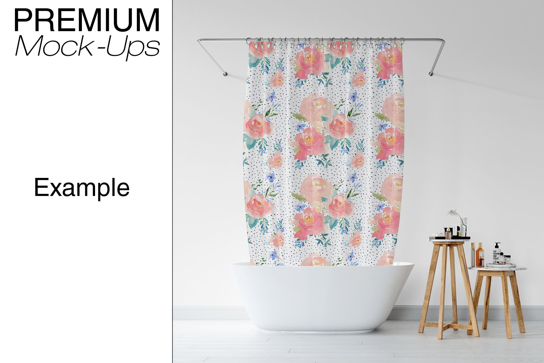 Bath Curtain Mockup Pack example image 14