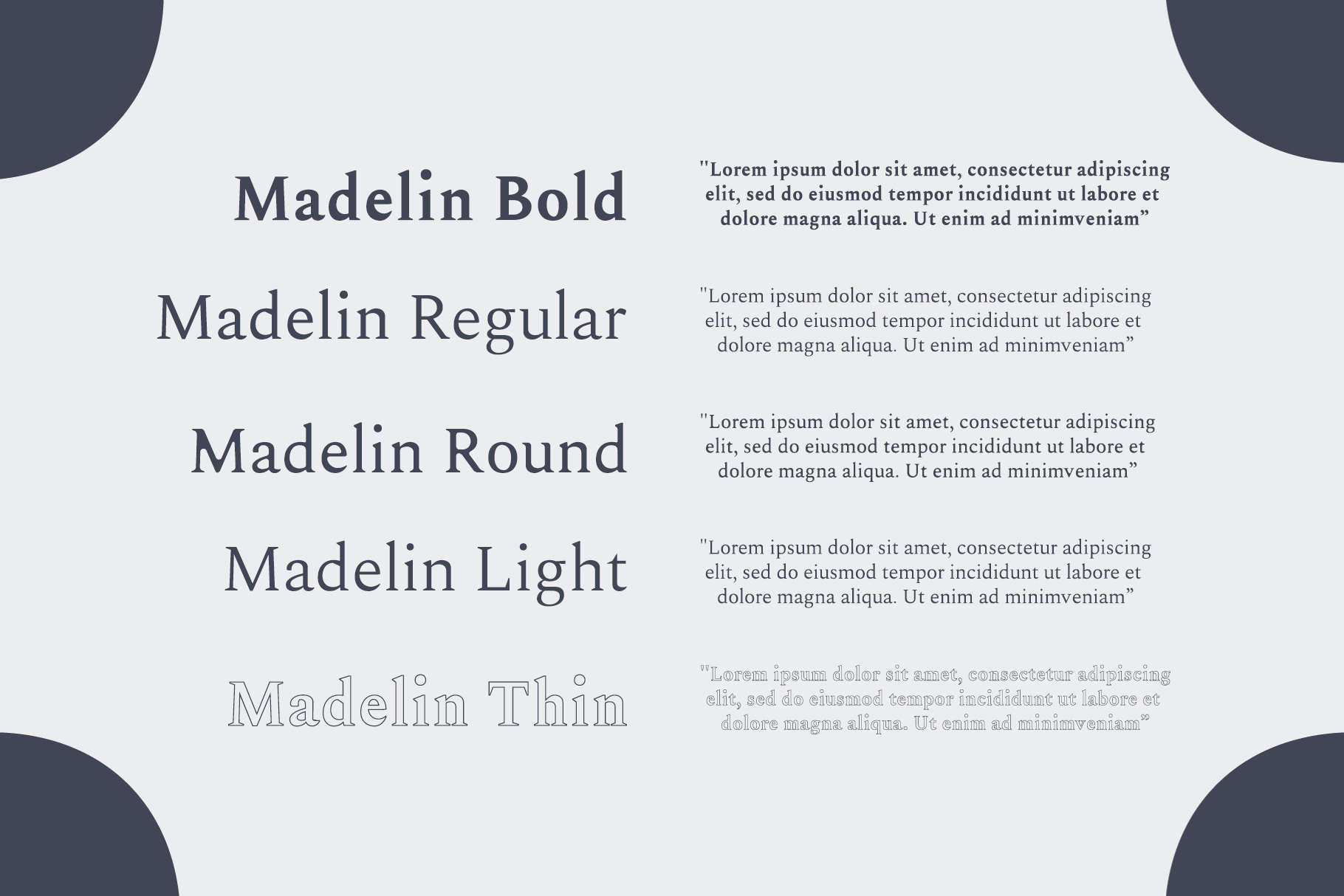 Madelin Serif Font Family Pack example image 3