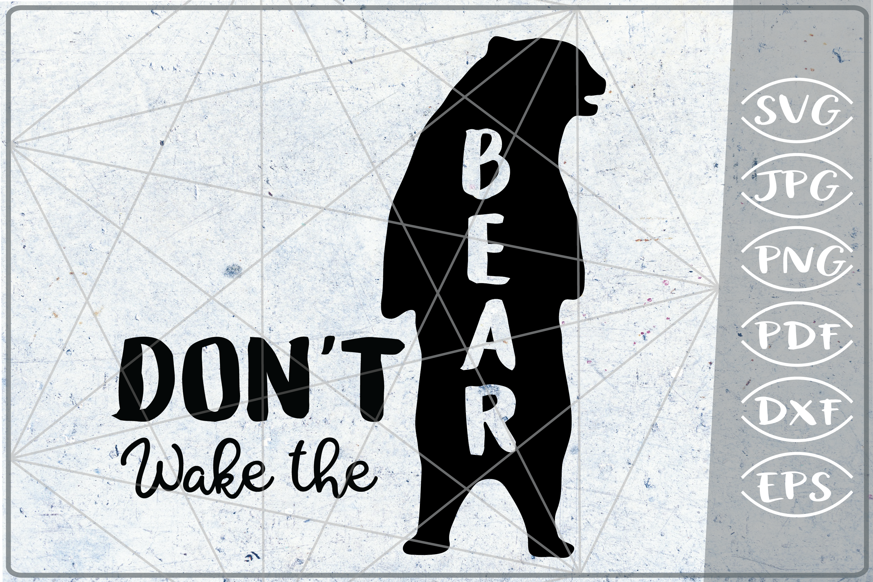 Don't Wake The Bear SVG Bear Silhouette Bear Quote Svg Files example image 1