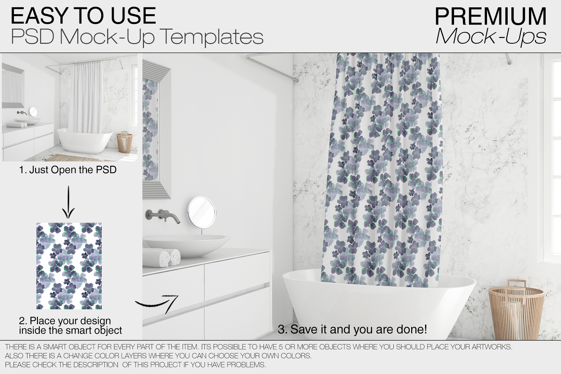 Shower Curtain Mockup Pack example image 13