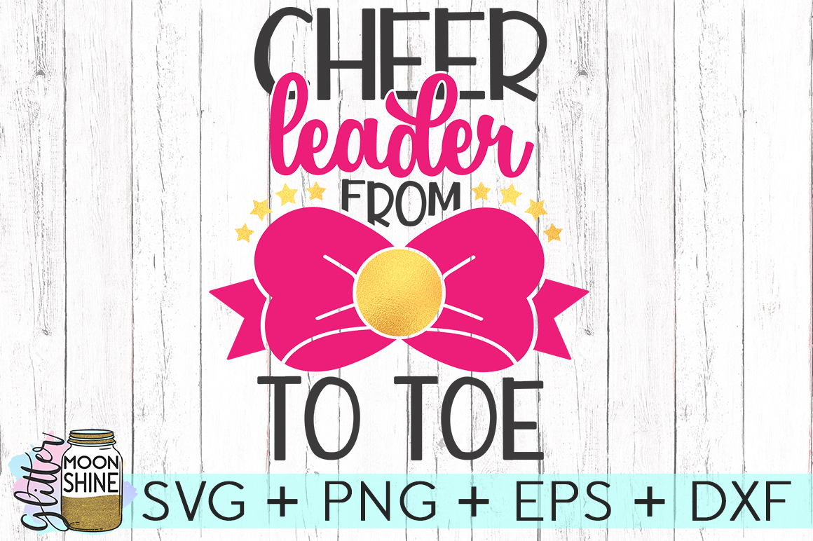Cheerleader Bow To Toe SVG DXF PNG EPS Cutting Files example image 2