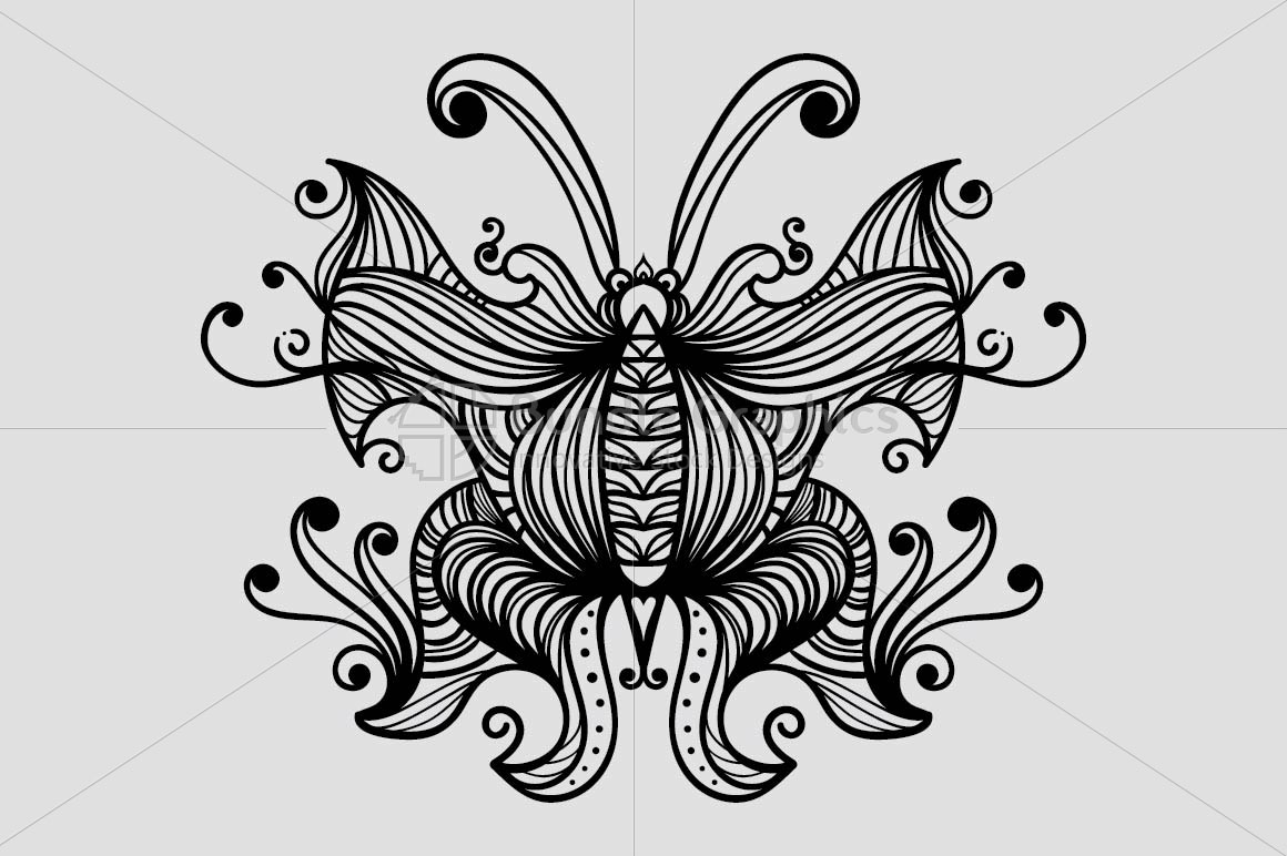Symmetrical Linear Butterfly example image 2