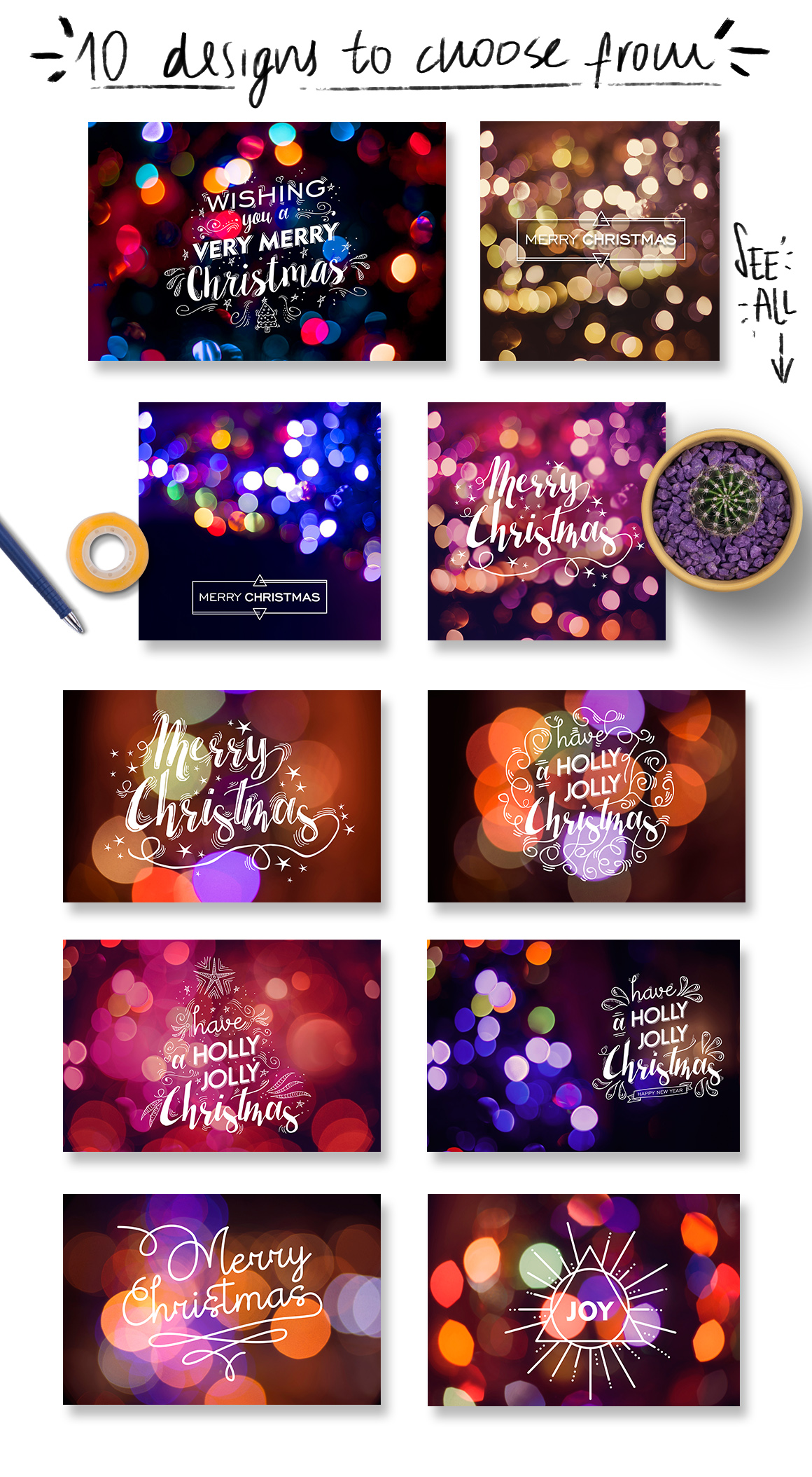 Christmas lights: lettering + more! example image 5
