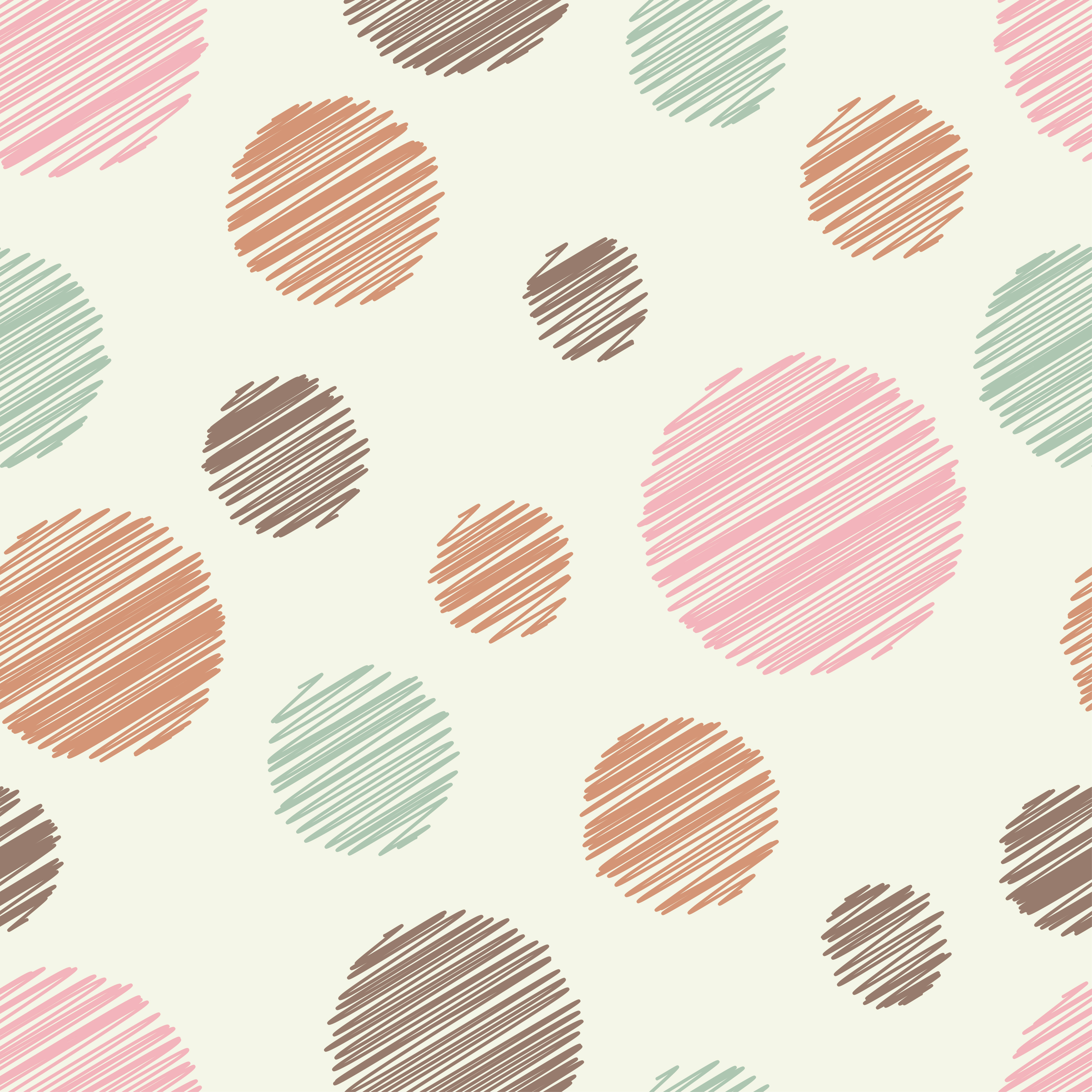 Polka dot seamless pattern. Vector illustration. Textile rapport.  example image 1
