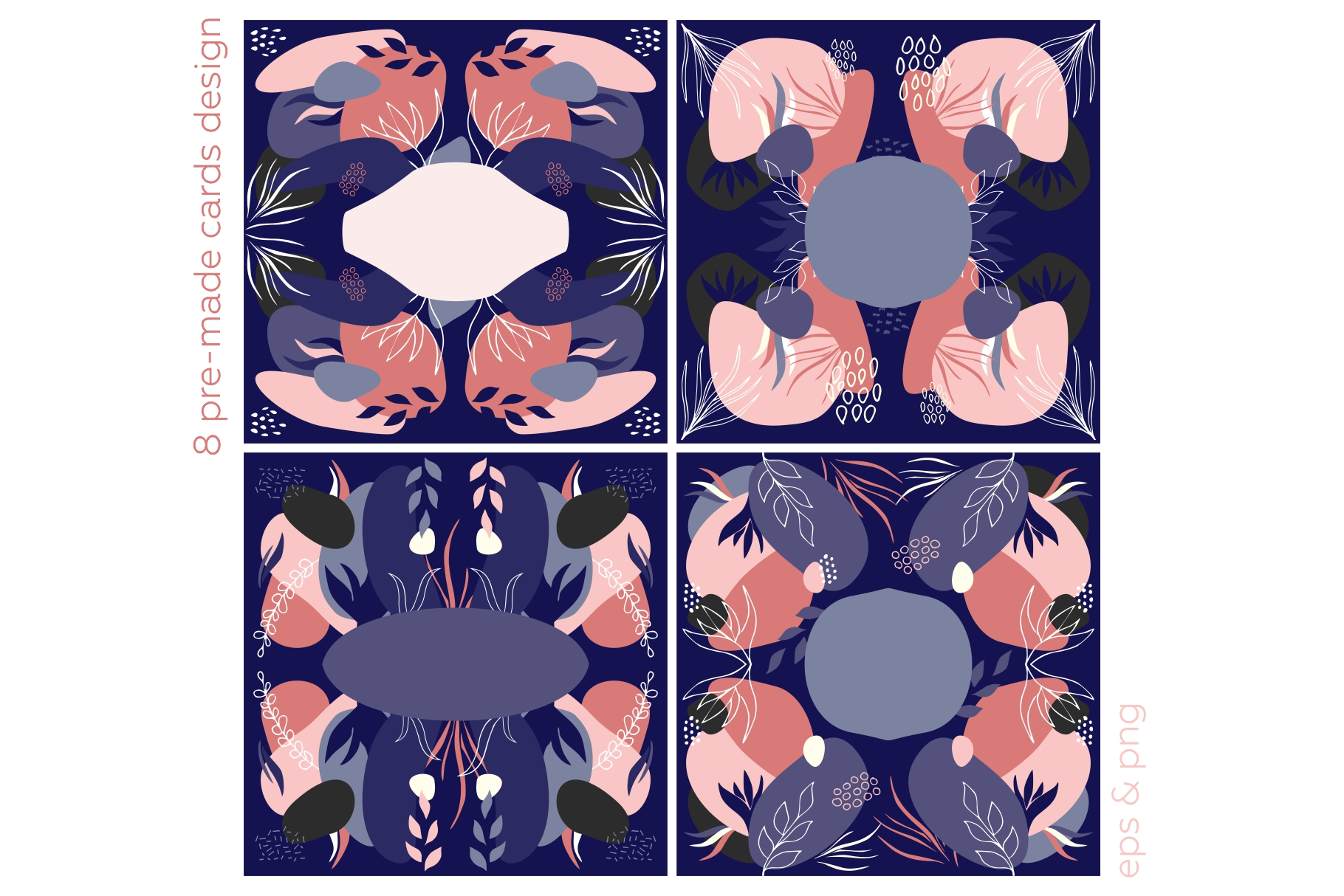 Botanicum. Modern and abstract pattern set. example image 11