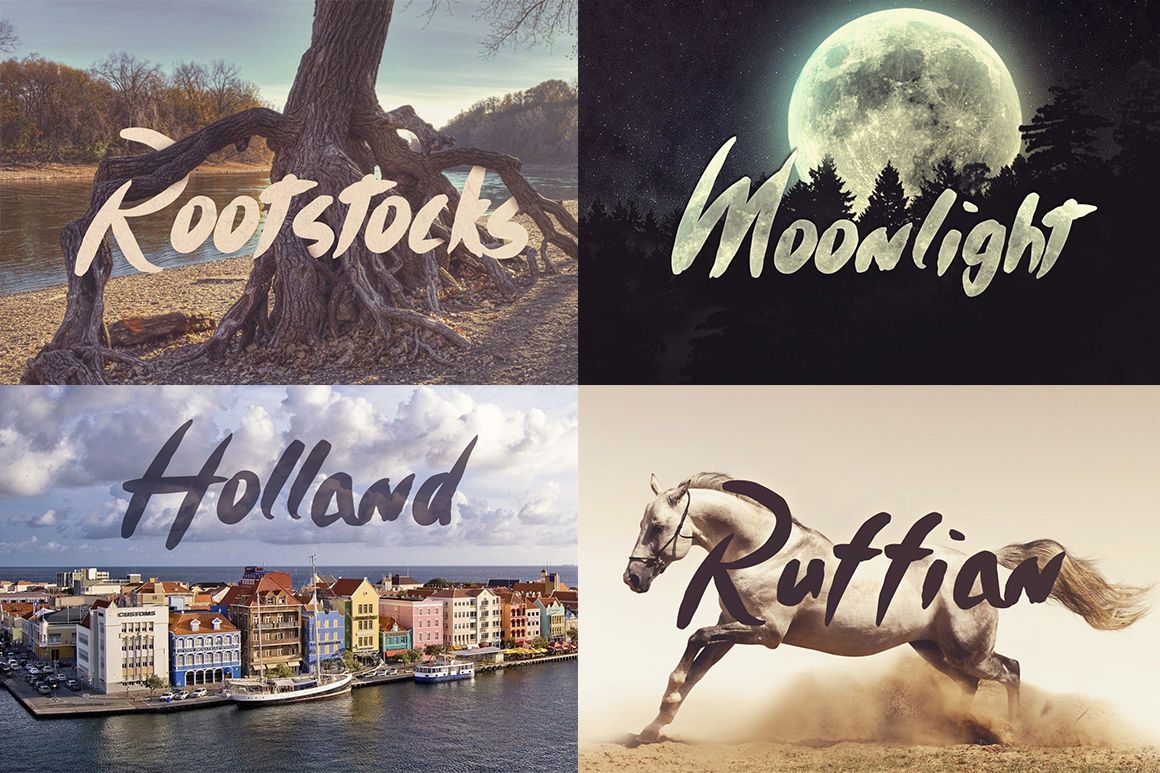 Timothy Brush Typeface example image 2