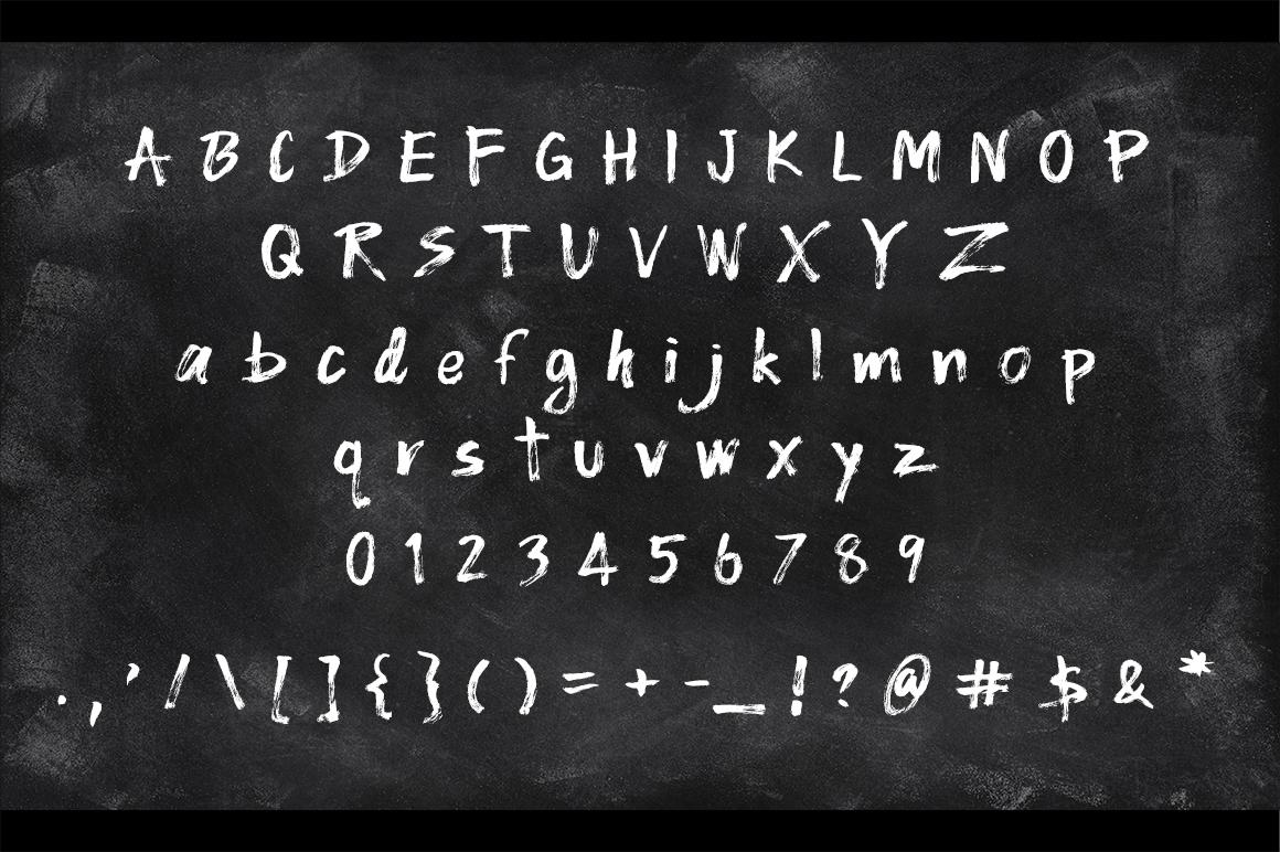WOO Dry Brush Script Typeface example image 7