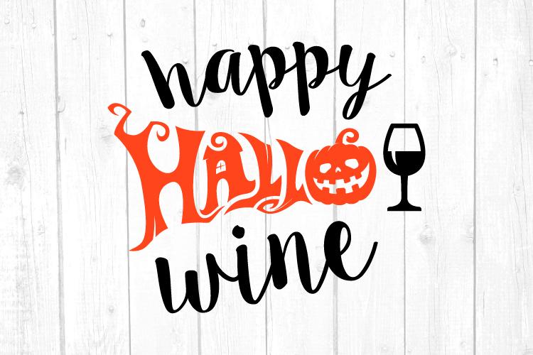Happy Hallo Wine Svg, Wine Svg, Halloween Svg, Home Decor example image 1
