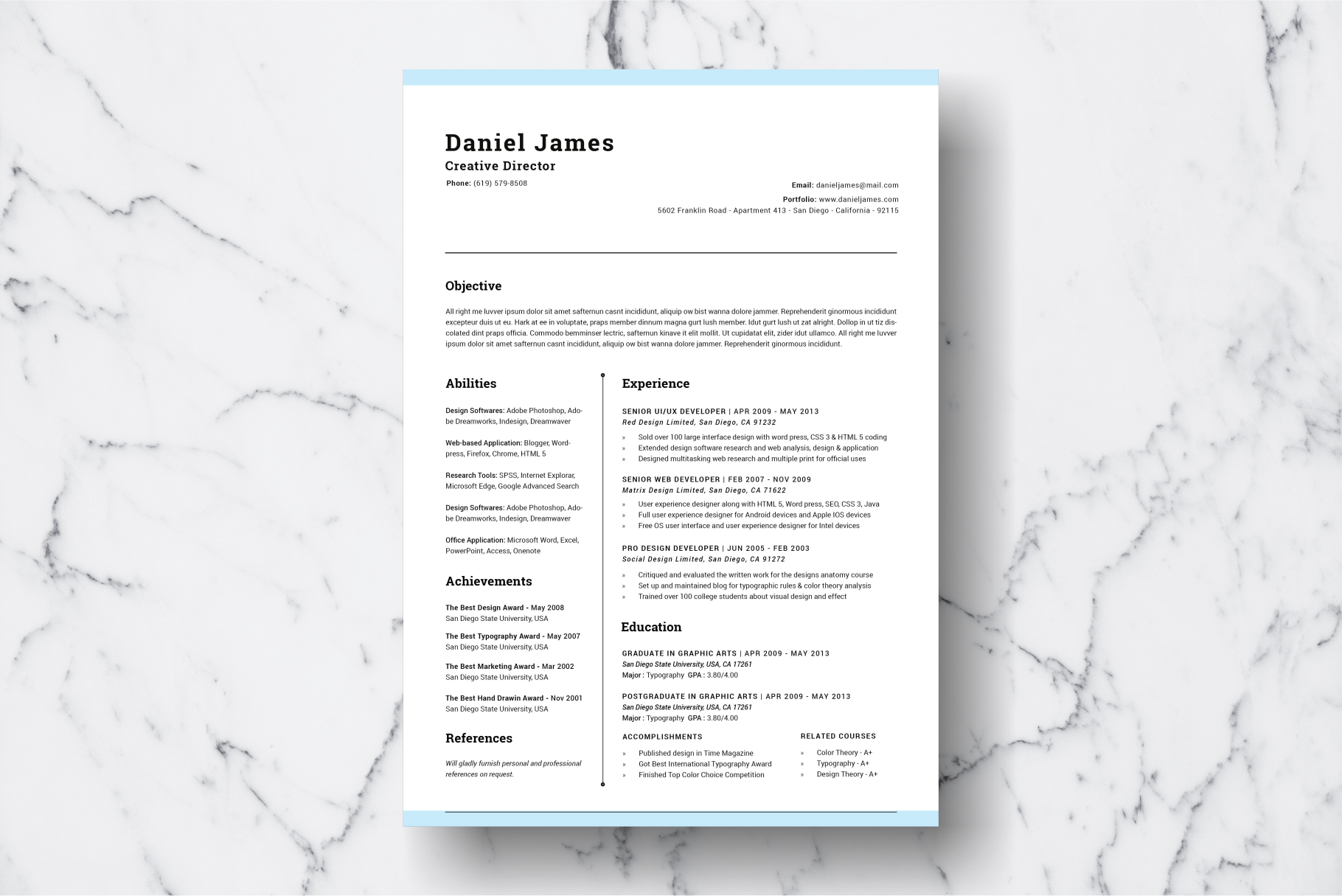 Resume Template Vol. 06 example image 2