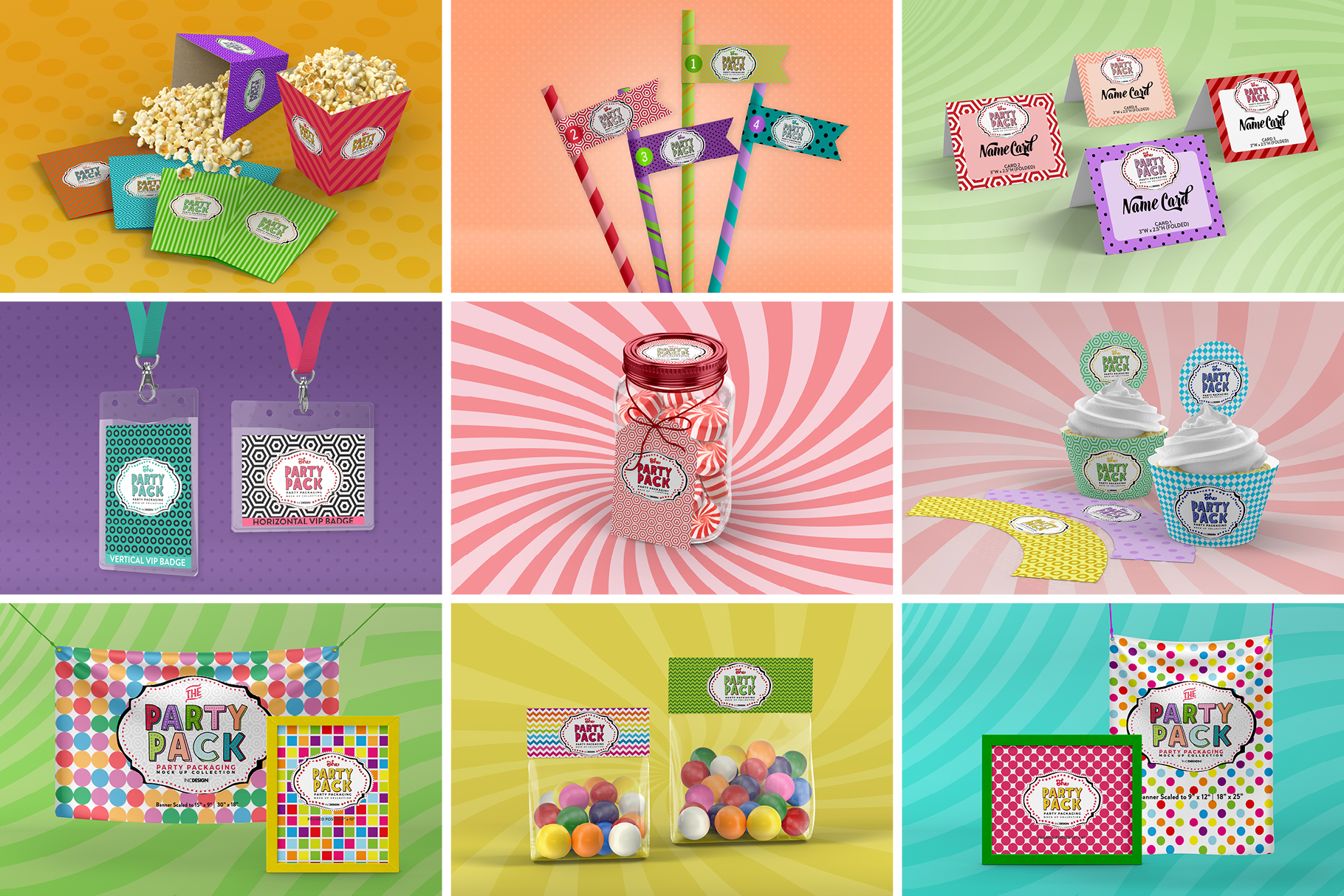 The Party Pack Mockup BUNDLE example image 6
